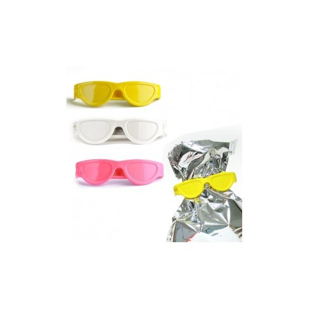 фото Клипсы для пакетов Qualy Bag Glasses. Цвет: белый, желтый, розовый