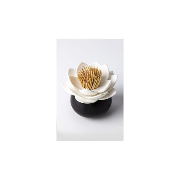 фото Держатель для зубочисток Qualy Lotus. Цвет: черный, белый
