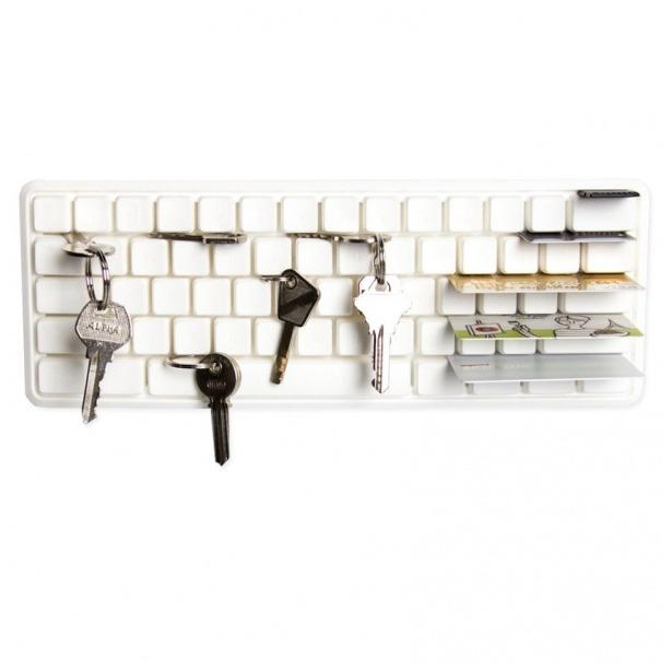 фото Держатель ключей и мелких предметов Qualy Key Board. Цвет: белый