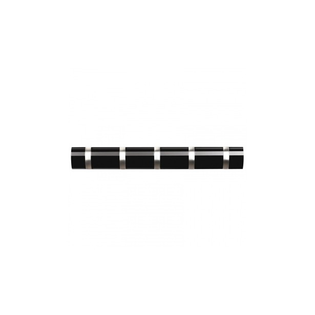 фото Вешалка настенная горизонтальная с 5-ю крючками Umbra Flip. Цвет: черный